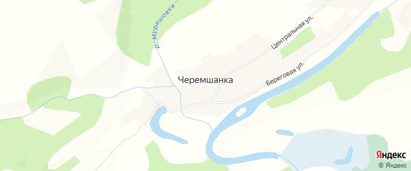Карта села Черемшанки в Алтайском крае с улицами и номерами домов