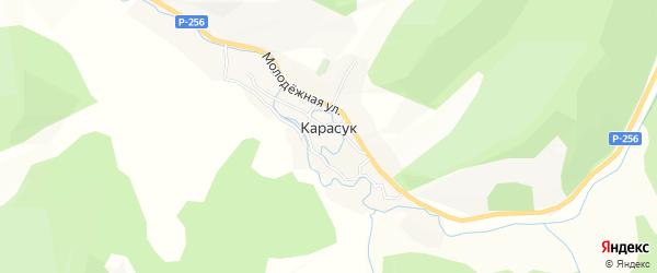 Карта села Карасука в Алтае с улицами и номерами домов