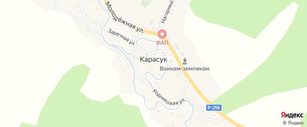 Нагорный переулок на карте села Карасука с номерами домов