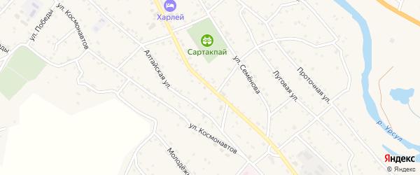 Советская улица на карте села Онгудая с номерами домов
