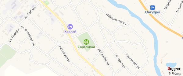 Улица Семенова на карте села Онгудая с номерами домов