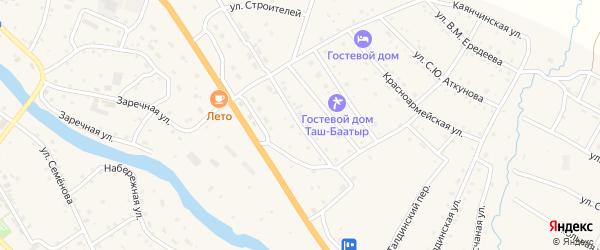 Солнечная улица на карте села Онгудая с номерами домов