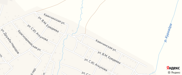 Каянчинская улица на карте села Онгудая с номерами домов