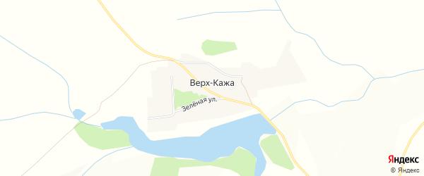 Карта села Верха-Кажи в Алтайском крае с улицами и номерами домов