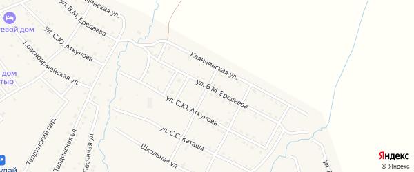 Улица В.М.Ередеева на карте села Онгудая с номерами домов
