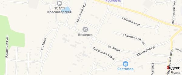 Улица Мира на карте Красногорского села с номерами домов