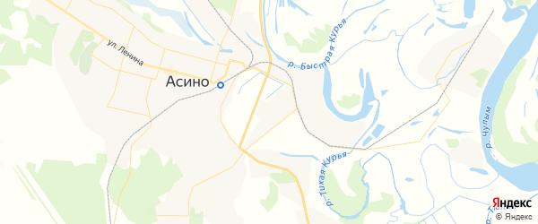 Карта Асино с районами, улицами и номерами домов