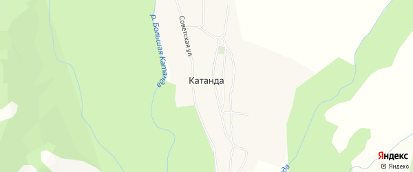 Карта села Катанды в Алтае с улицами и номерами домов