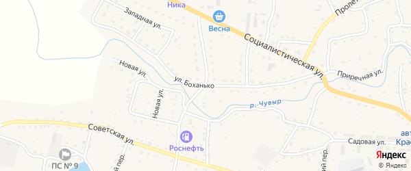 Улица Боханько на карте Красногорского села с номерами домов