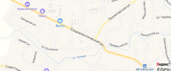 Социалистическая улица на карте Красногорского села с номерами домов
