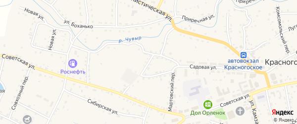 Заводской переулок на карте Красногорского села с номерами домов