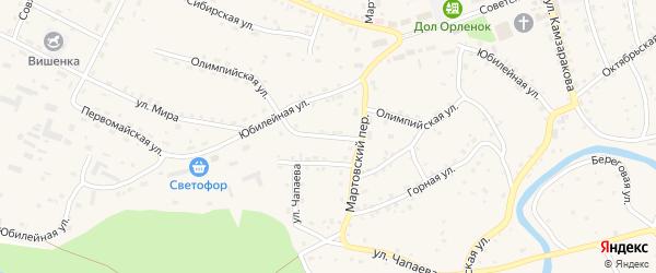 Олимпийская улица на карте Красногорского села с номерами домов