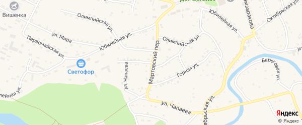 Подгорная улица на карте Красногорского села с номерами домов