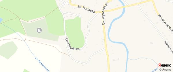 Сосновый переулок на карте Красногорского села с номерами домов