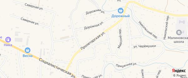 Пролетарская улица на карте Красногорского села с номерами домов