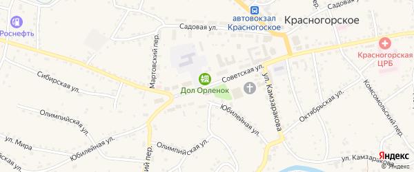 Советская улица на карте Красногорского села с номерами домов