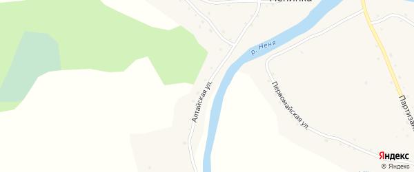Алтайская улица на карте села Ненинки с номерами домов