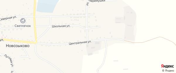Подгорная улица на карте села Новозыково с номерами домов