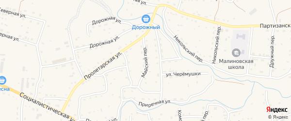 Майский переулок на карте Красногорского села с номерами домов