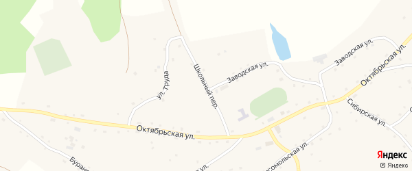 Школьный переулок на карте села Ненинки с номерами домов
