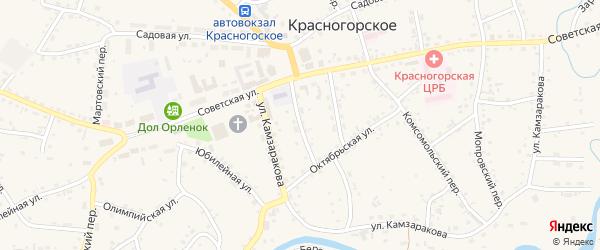 Центральный переулок на карте Красногорского села с номерами домов