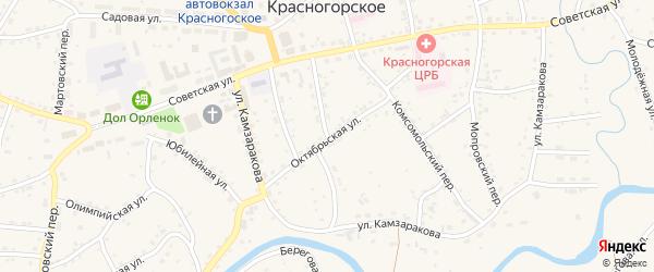 Коммунальный переулок на карте Красногорского села с номерами домов