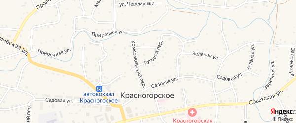 Луговой переулок на карте Красногорского села с номерами домов
