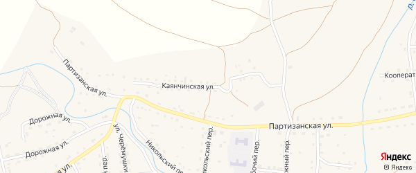 Каянчинская улица на карте Красногорского села с номерами домов