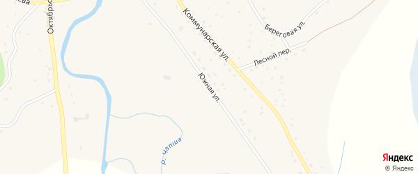 Южная улица на карте Красногорского села с номерами домов