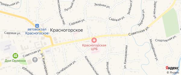 Больничный переулок на карте Красногорского села с номерами домов