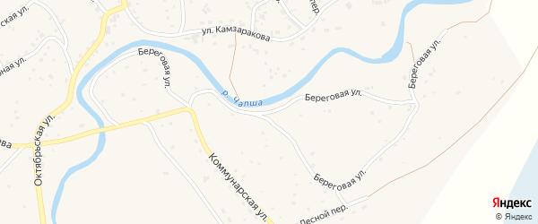 Береговая улица на карте Красногорского села с номерами домов