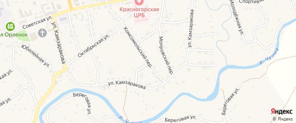 Алтайская улица на карте Красногорского села с номерами домов