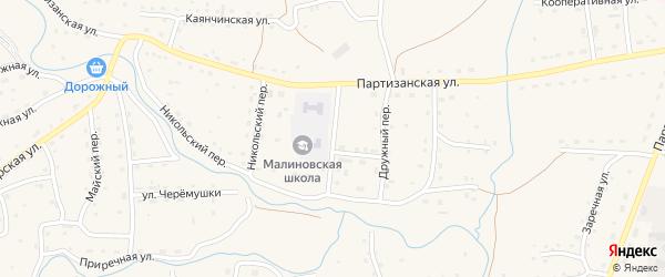 Рабочий переулок на карте Красногорского села с номерами домов