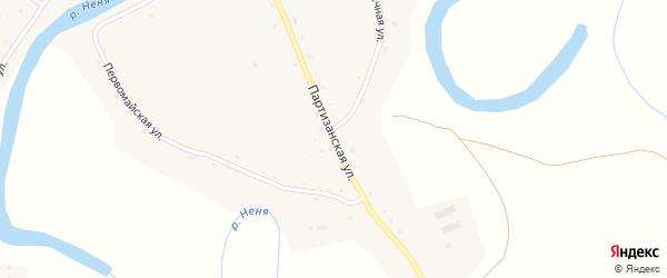 Партизанская улица на карте села Ненинки с номерами домов