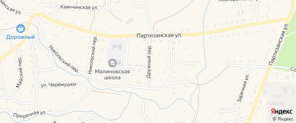 Дружный переулок на карте Красногорского села с номерами домов