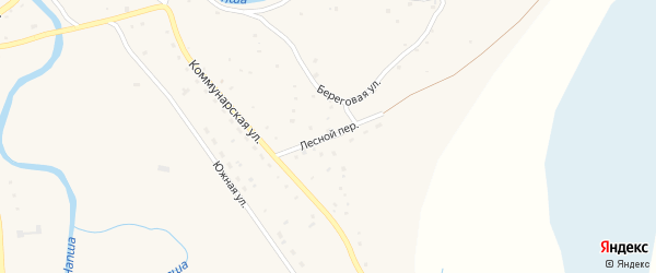 Лесной переулок на карте Красногорского села с номерами домов
