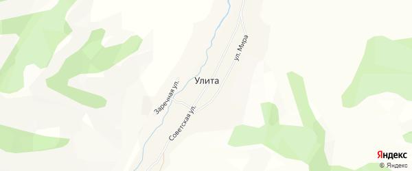 Карта села Улиты в Алтае с улицами и номерами домов