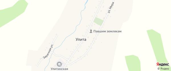 Советская улица на карте села Улиты с номерами домов