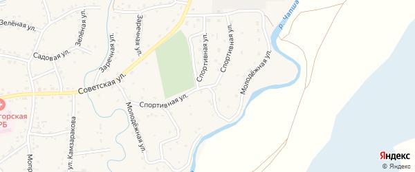 Молодежная улица на карте Красногорского села с номерами домов