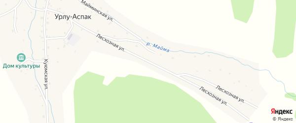 Лесхозная улица на карте села Урлу-Аспак с номерами домов