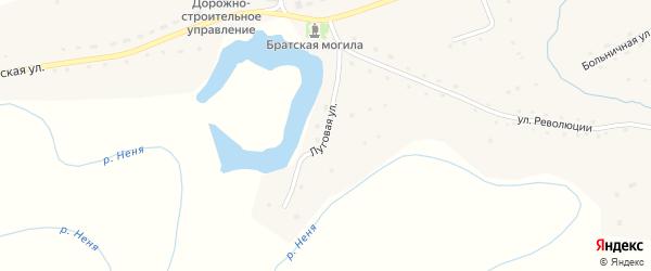 Луговая улица на карте села Карабинка с номерами домов