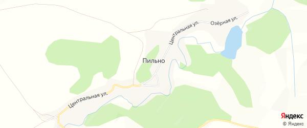 Карта села Пильно в Алтайском крае с улицами и номерами домов