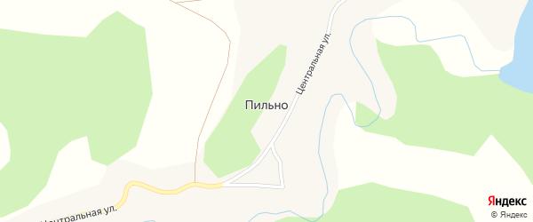 Центральная улица на карте села Пильно с номерами домов