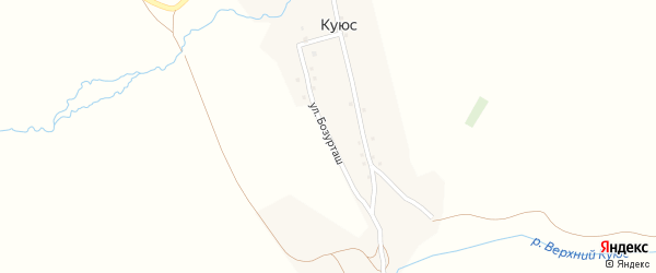 Улица Бозурташ на карте села Куюс с номерами домов