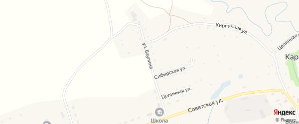 Улица Баулина на карте села Карабинка с номерами домов