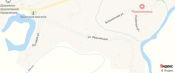 Улица Революции на карте села Карабинка с номерами домов