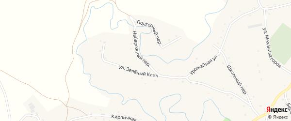Набережный переулок на карте села Карабинка с номерами домов