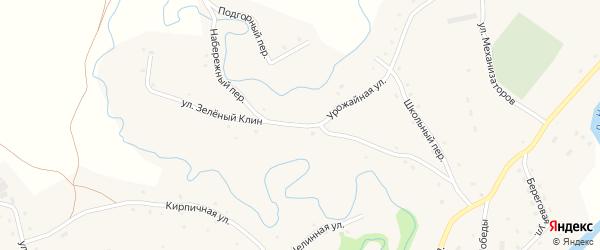 Улица Зеленый Клин на карте села Карабинка с номерами домов
