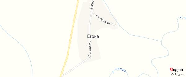 Степная улица на карте поселка Егоны с номерами домов