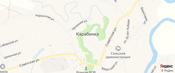 Береговая улица на карте села Карабинка с номерами домов